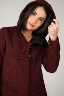 Duffle-coat en laine, Rouge