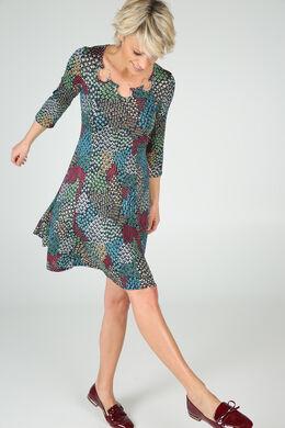 Robe en maille imprimée, multicolor