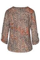 T-shirt imprimé léopard, Orange
