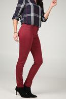Katoenen broek met kraaltjes op de zakken, Aubergine