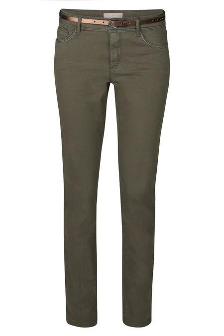 Pantalon slim en coton - Kaki