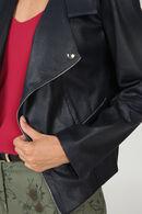 Veste faux cuir, Marine