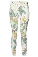 Pantalon imprimé tropical, Blanc