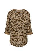 Shirt met luipaardprint, Oker