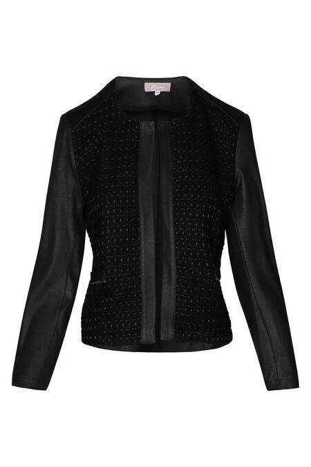 Kort jasje in Chanel-stijl - Zwart
