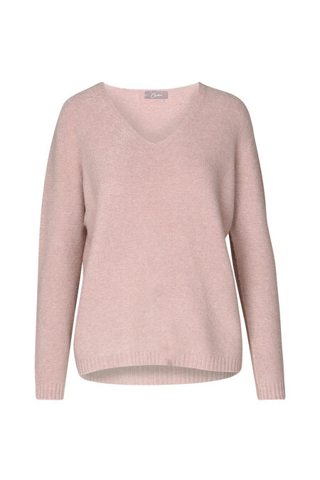 Pull maille ottoman - Vieux rose