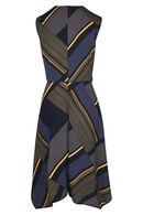 Wikkeljurk met streepjes, Marineblauw