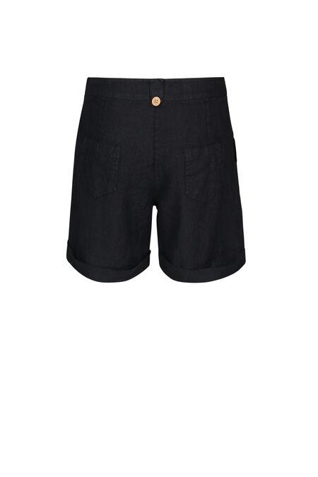 Linnen short - Marineblauw