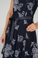 Kanten jurk met gom, Blauw/Ecru