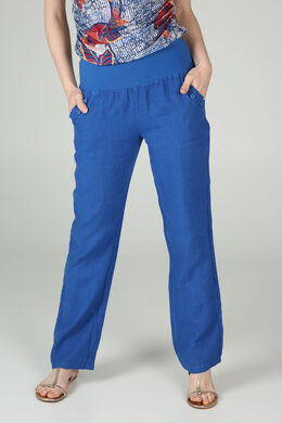 Pantalon en lin, Bleu royal