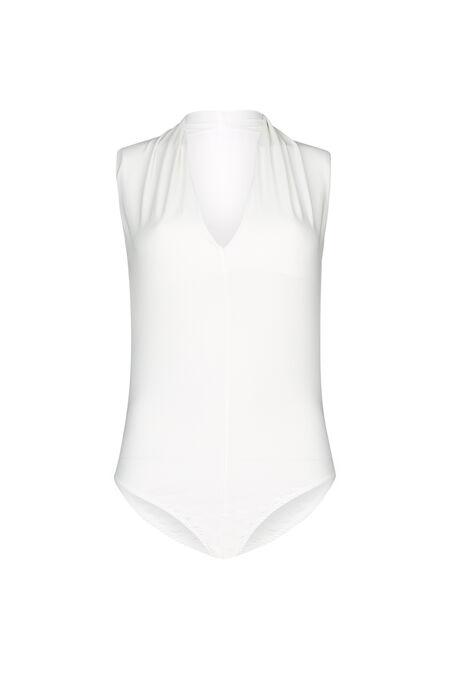 T-shirt body col V - Ecru