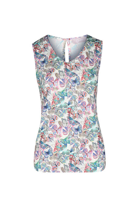 T-shirt imprimé papillons - multicolor