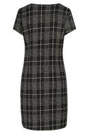Geruite jurk, Zwart/Taupe