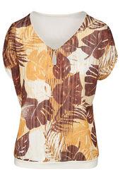 Blouse imprimé feuilles de palmiers