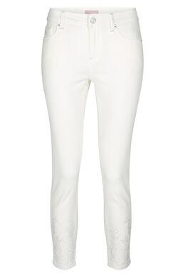 Pantalon slim 7/8, Blanc
