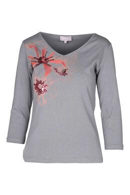 T-shirt en coton, Gris