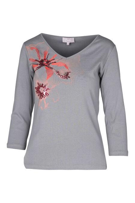 Katoenen T-shirt - Grijs