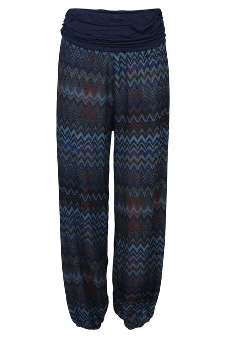 O-vormige broek met print - Marineblauw