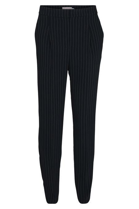 Pantalon ville fines rayures - Marine