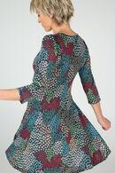 Jurk in bedrukt tricot, Multicolor