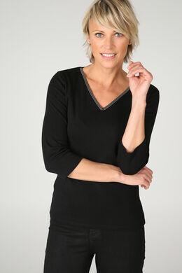 T-shirt uni, Noir