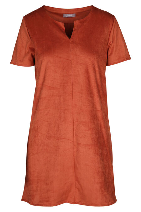 Tuniek met suèdine-look - Oranje