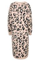 Lange cardigan met luipaardprint, Roze