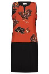Cassis - Rechte jurk met lotusbloemen