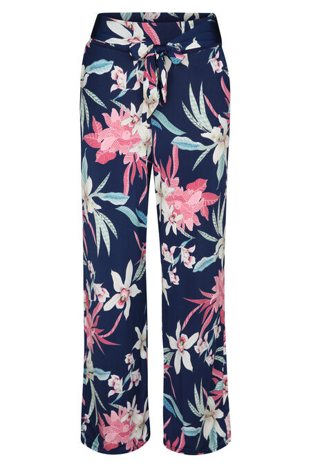 Pantalon large - Rose