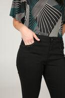 Katoenen broek met kraaltjes op de zakken, Zwart