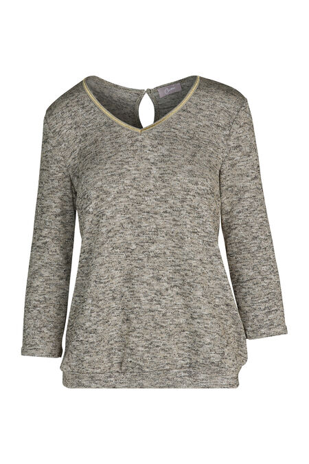 T-shirt in warm tricot met lurexgaren - Goud