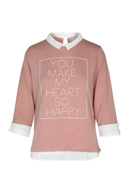 "Pull à message ""You make my heart so happy"", Rose"
