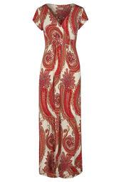 Lange jurk met kasjmierprint