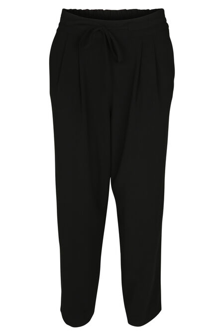Pantalon large 7/8 - Noir