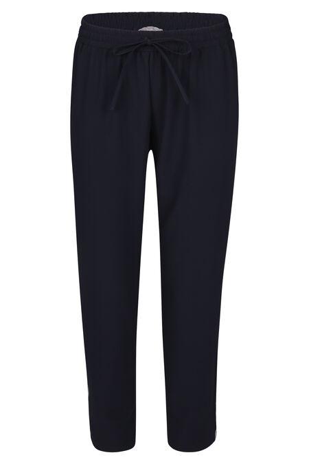 Pantalon fluide bandes sport - Marine