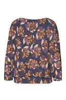 T-shirt imprimé fleur de lotus, Marine