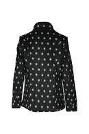 Mantel met stippen, Zwart