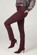 Pantalon slim avec strass, Aubergine