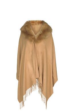 Poncho écharpe, Camel