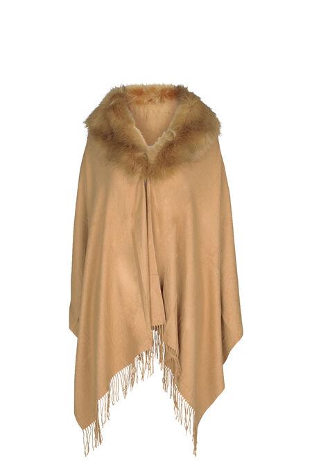 Poncho écharpe - Camel - Cassis a301e891faa