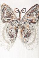 T-shirt papillon brodé, Ecru