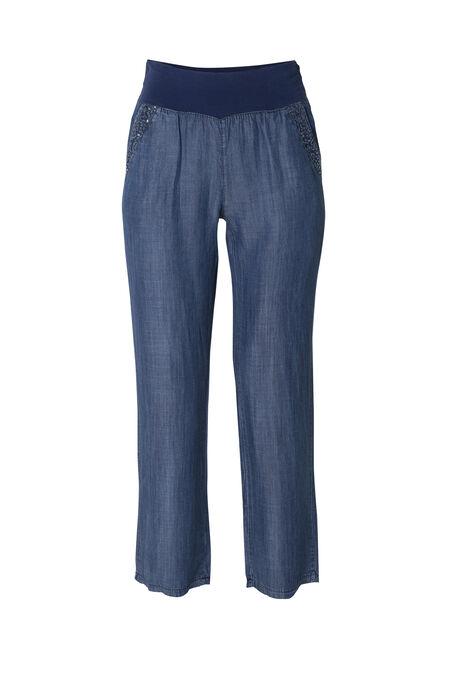 Pantalon en lyocell - Bleu