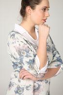 Trui en hemd 2-in-1 met bloemenprint, Blauw