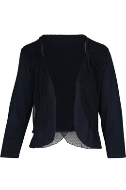 Bolero-T-shirt in twee stoffen, Marineblauw
