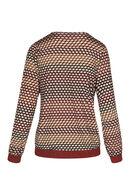 T-shirt met lange mouwen en fantasieprint, Terracotta