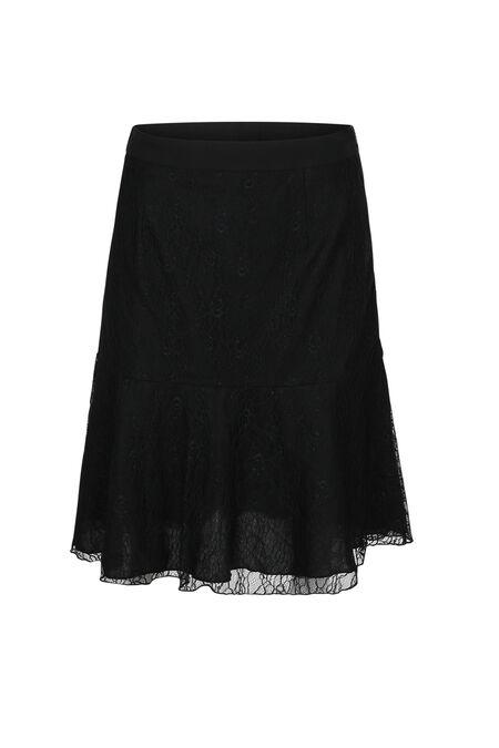 Kanten rok - Zwart