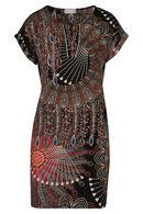 Hoesjurk met etnische print, Multicolor