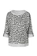 Shirt met luipaardprint, Grijs