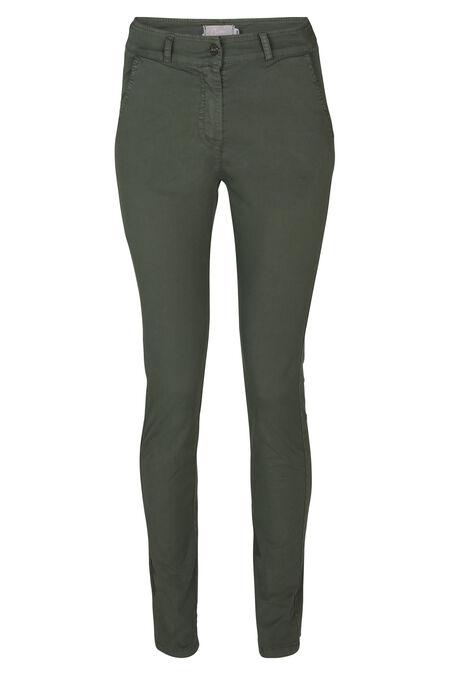 Pantalon Chino longueur 7/8 - Kaki