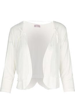 Bolero-T-shirt in twee stoffen, Ecru